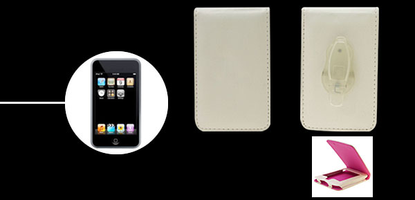 White Leather Protector Case For Apple iPod Touch 1st Generation
