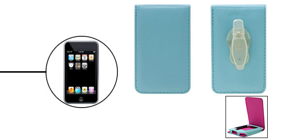 Baby Blue Leather Protector Case For Apple iPod Touch 1st Generation