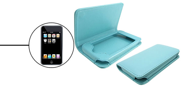 Baby Blue Horizontal Artificial Leather Case for Apple iPod Touch 1st Generation