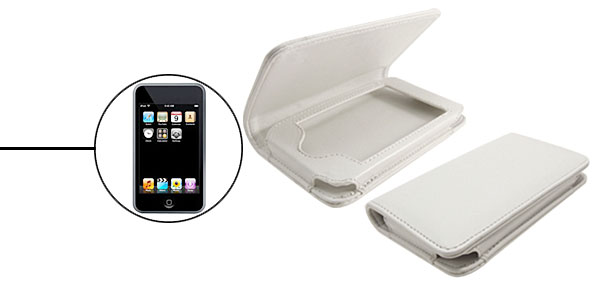 White Horizontal Artificial Leather Case for Apple iPod Touch 1st Generation