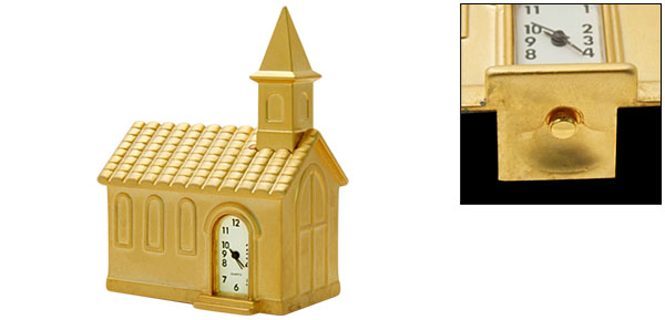 Fashion Unique Metal Golden Model Bethlehem Desk Clock