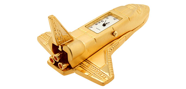 Golden Space Shuttle Desk Clock