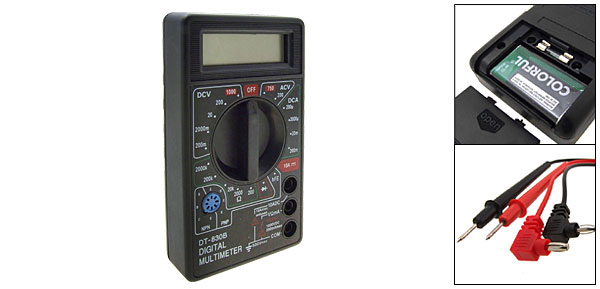 Black Digital Multimeter DT-830B