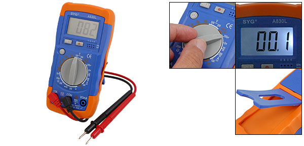 Three and Half 3 1/2 Bits LCD Digital Multimeter Voltmeter (A830L)