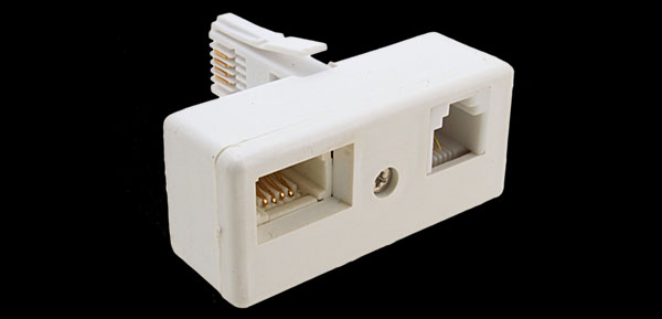 UK BT Plug to US RJ11 BT Dual Socket Connector Adpater
