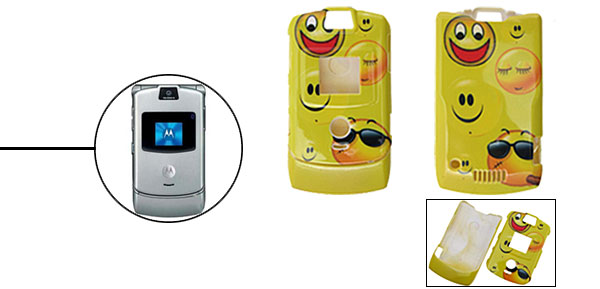Smiley Protector Hard Cover Case Holder for Cell Phone Motorola V3 V3i V3m