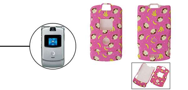 Pink Protector Hard Cover Case Holder for Cell Phone Motorola V3 V3i V3m