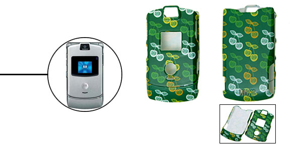 Green Protector Hard Cover Case Holder for Cell Phone Motorola V3 V3i V3m