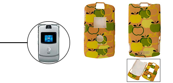 Apple Protector Hard Cover Case Holder for Cell Phone Motorola V3/V3i/V3m