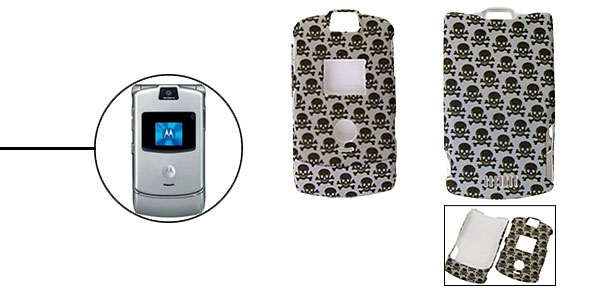 Cool Skull Pattern Protector Hard Cover Case Holder for Cell Phone Motorola V3/V3i/V3m
