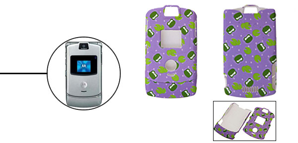Lavender Protector Hard Cover Case Holder for Cell Phone Motorola V3/V3i/V3m