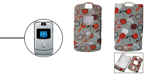 Apple Pattern Protector Hard Cover Case Holder for Cell Phone Motorola V3/V3i/V3m