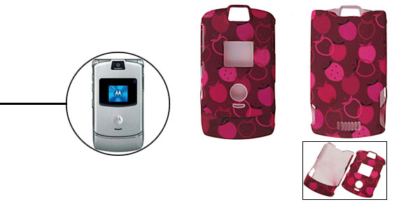 Rosy Protector Hard Cover Case Holder for Cell Phone Motorola V3/V3i/V3m