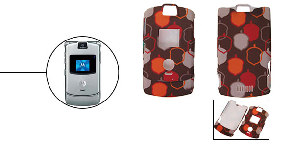 Patterned Protector Hard Cover Case Holder for Cell Phone Motorola V3 V3i V3m