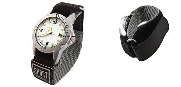 Fashion Quartz Sport Nylon Wrist Watches with White Dial