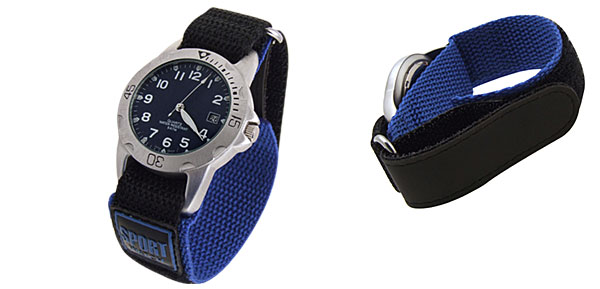 Fashion Quartz Sport Nylon Wrist Watches with Blue Dial