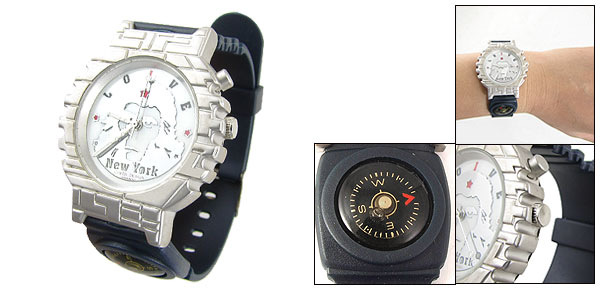 Fashion Quartz Sport Wrist Watches with Decoration Compass