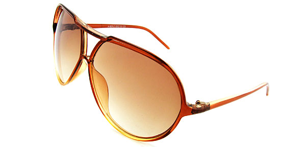 Classic Aviator Light Brown Fashion Eyewear Sunglasses
