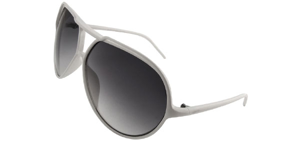 Classic Aviator White Fashion Eyewear Sunglasses