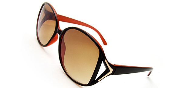 A GO GO Brown Fashion Eyewear Sunglasses