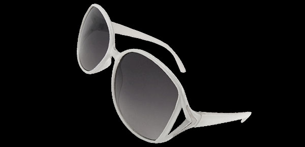 A GO GO White Fashion Eyewear Sunglasses