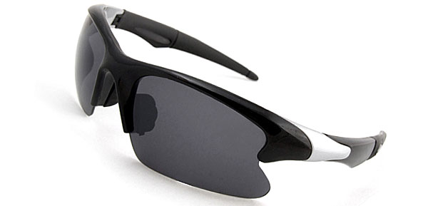 Extreme Chic  Black & Silvery Fashion Eyewear Sunglasses