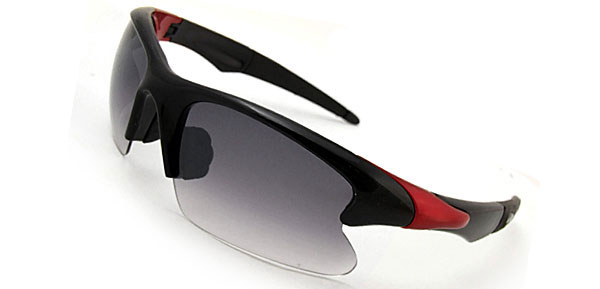 Extreme Chic  Black & Red Fashion Eyewear Sunglasses