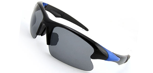 Extreme Chic  Black & Blue Fashion Eyewear Sunglasses