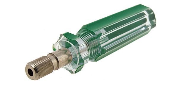 CATV F-Connector to Coax Cable Insertion Tool