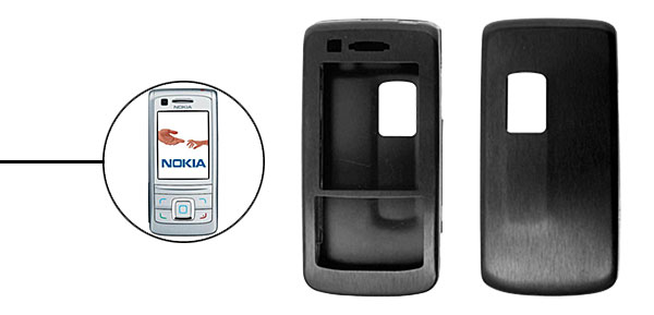 Black  Slim Aluminum Protector Hard Case for Nokia 6280