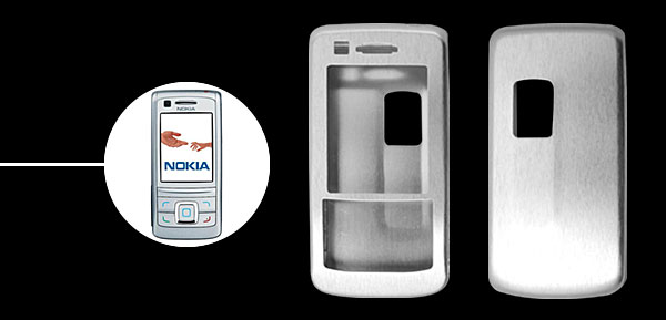 Silvery  Slim Aluminum Protector Hard Case for Nokia 6280