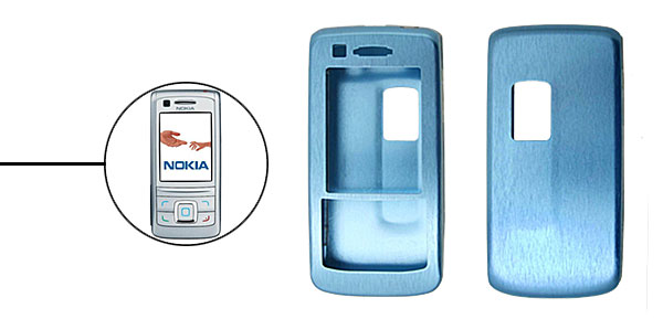 Blue  Slim Aluminum Protector Hard Case for Nokia 6280