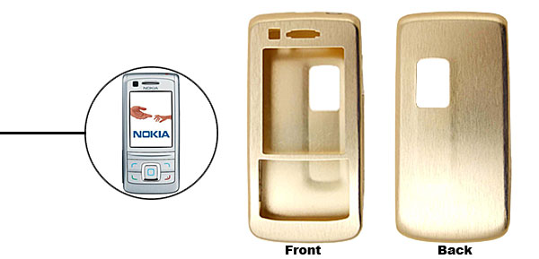 Golden  Slim Aluminum Protector Hard Case for Nokia 6280