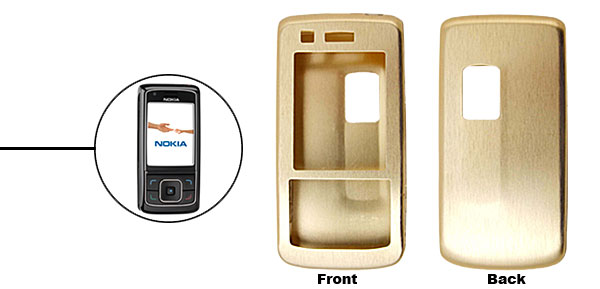 Golden Super Slim Aluminum Protector Hard Case for Nokia 6288