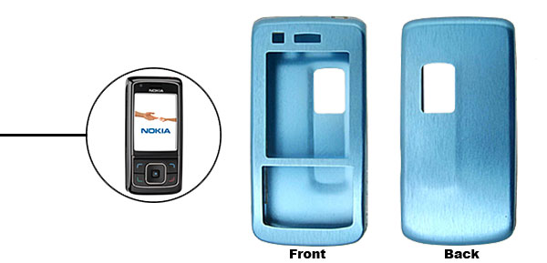 Blue Super Slim Aluminum Protector Hard Case for Nokia 6288