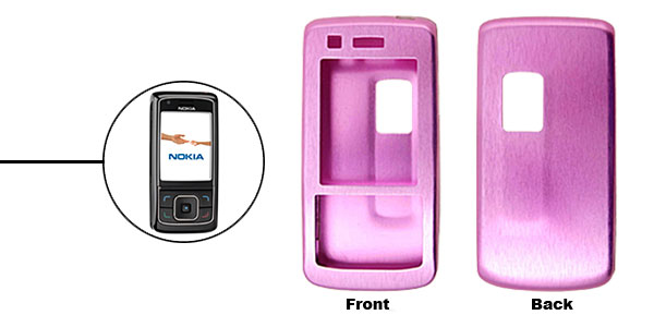 Purple Super Slim Aluminum Protector Hard Case for Nokia 6288