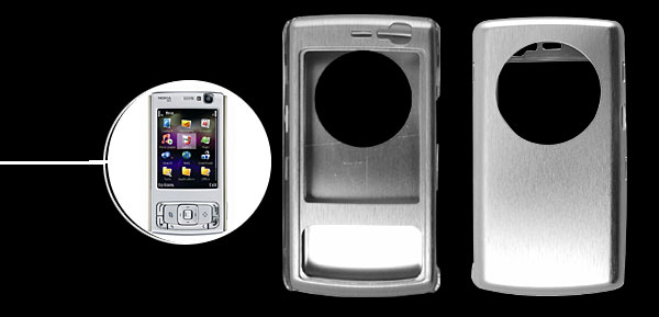 Super Slim Aluminium Metal Case Cover For NOKIA N95 Silver