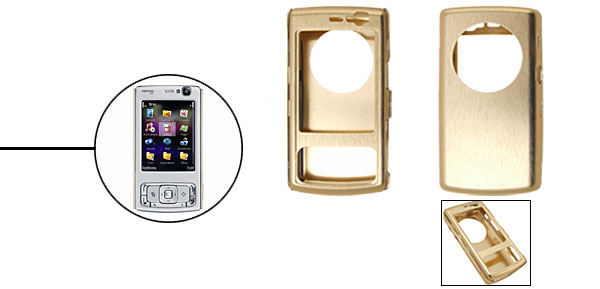 Super Slim Aluminium Metal Skin Case Cover For NOKIA N95 Golden