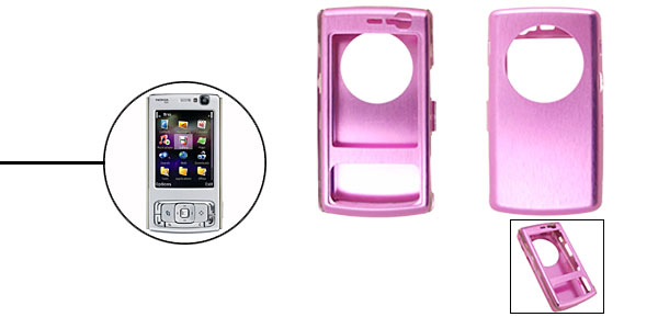 Super Slim Aluminium Metal Skin Case Cover For NOKIA N95 Pink