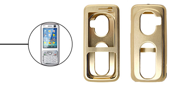 Super Slim Aluminium Metal Skin Case Cover For NOKIA N73 Golden
