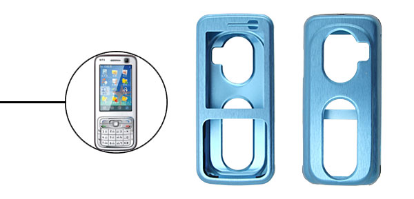 Super Slim Aluminium Metal Skin Case Cover For NOKIA N73 Blue