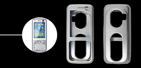 Super Slim Aluminium Metal Skin Case Cover For NOKIA N73 Silver