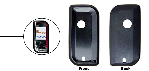 Black Super Slim Aluminum Protector Hard Case for Nokia 7610
