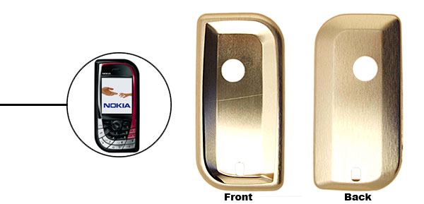 Golden Super Slim Aluminum Protector Hard Case for Nokia 7610