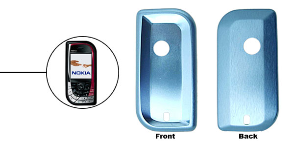 Blue Super Slim Aluminum Protector Hard Case for Nokia 7610