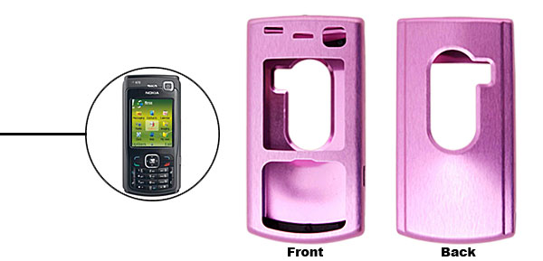 Purple Super Slim Aluminum Protector Hard Case for Nokia N70