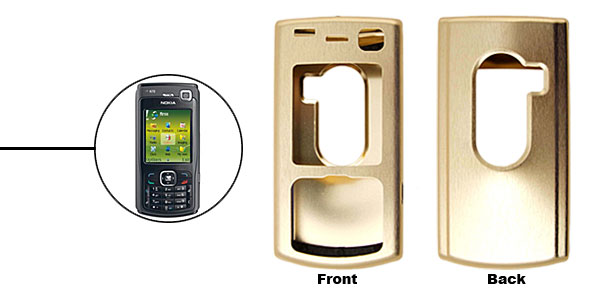 Golden Super Slim Aluminum Protector Hard Case for Nokia N70