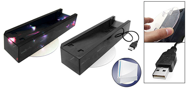 Black Console Stand with Cooling Fan for Nintendo Wii