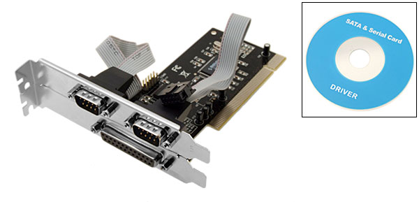 PCI RS232 9 Pin Serial Port 25 Pin Printer Parallel Port Card