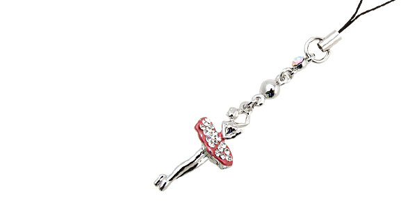 Jewelry Dancer Rhinestone Mobile Cell Phone Pendant Strap